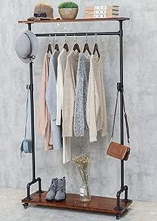 vintage industrial garment rack