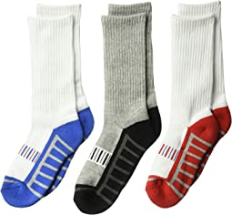 Jefferies Socks - Sporty Half Cushion Crew 3-Pack (Toddler/Little Kid/Big Kid/Adult)