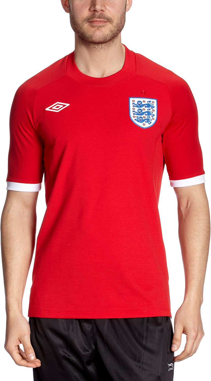 UMBRO England Away – Camiseta Fútbol Inglaterra Exterior Rojo ...
