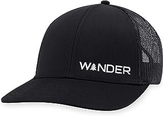 Wander Hat – Mountain Trucker Hat Baseball Cap Snapback Golf Fish Hat Camp Hat