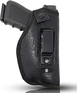 """IWB Gun Holster by PH - Concealed Carry Soft Material   Soft Interior   Fits Glock 17 19 23 25 32 38   Sig Sauer P320   Springfield XDS 4""""   Springfield XDE and Similar (Large)"""