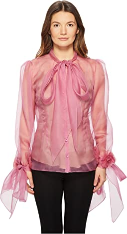 Blush Silk Organza Blouse