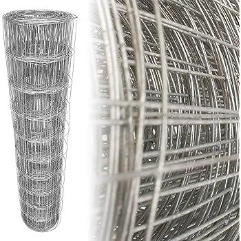 Top-Multi Maschendrahtzaun Set Wildzaun Gartenzaun PVC-beschichtet GR/ÜN 0,8m x 10m