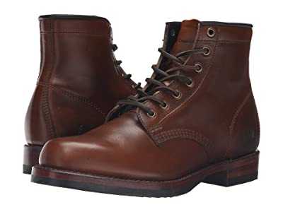 Frye John Addison Lace-Up (Whiskey Smooth Pull-Up Leather) Men