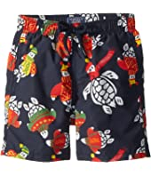Vilebrequin Kids - Sweater Turtles Swim Trunk (Toddler/Little Kids/Big Kids)