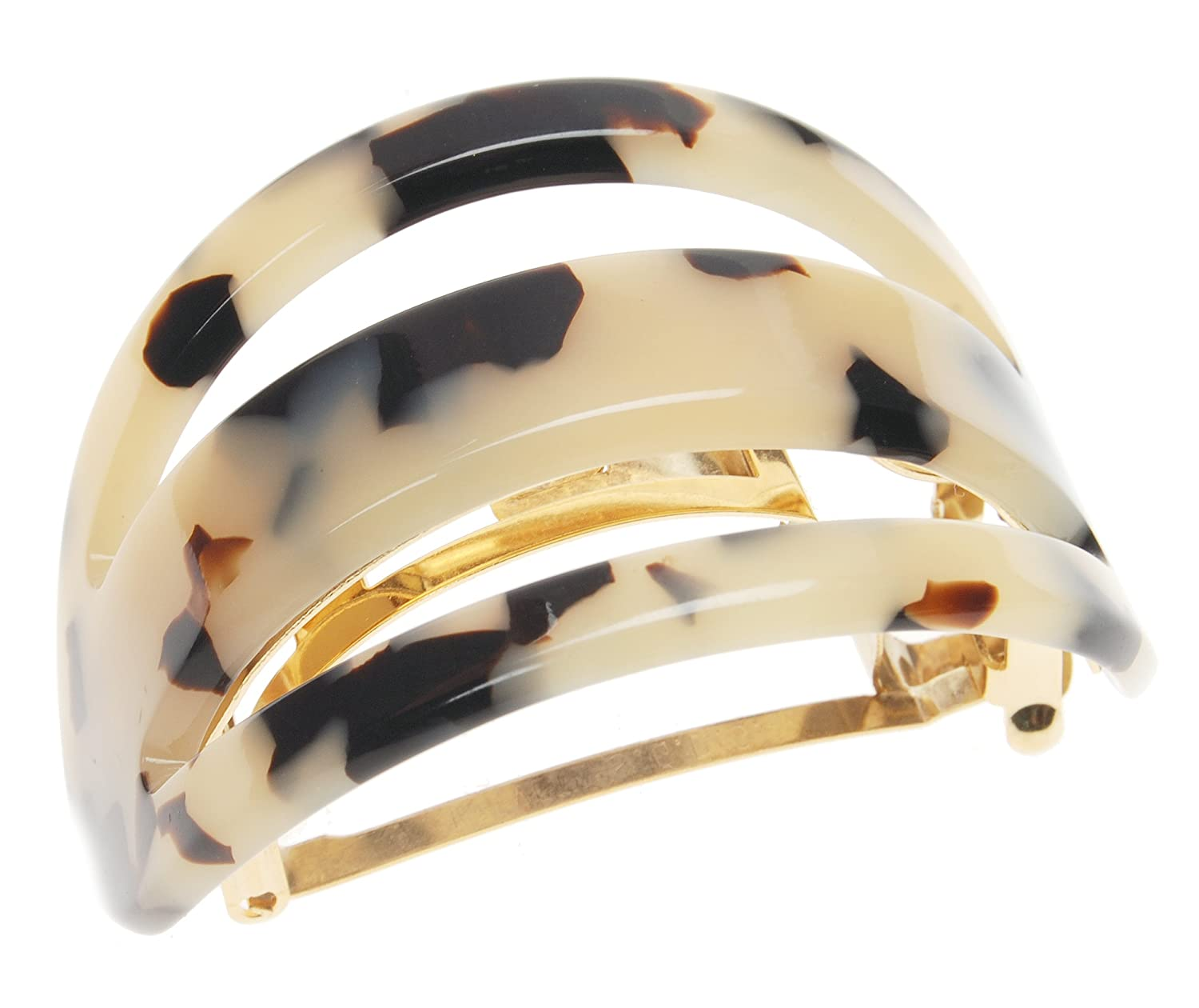 France Los Angeles Mall Luxe Cutout Oval Ponytail Special price Barrette Ivory Tokyo -