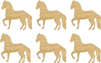 Horse Shape Unfinished Wood Animal Cut Outs 2.5