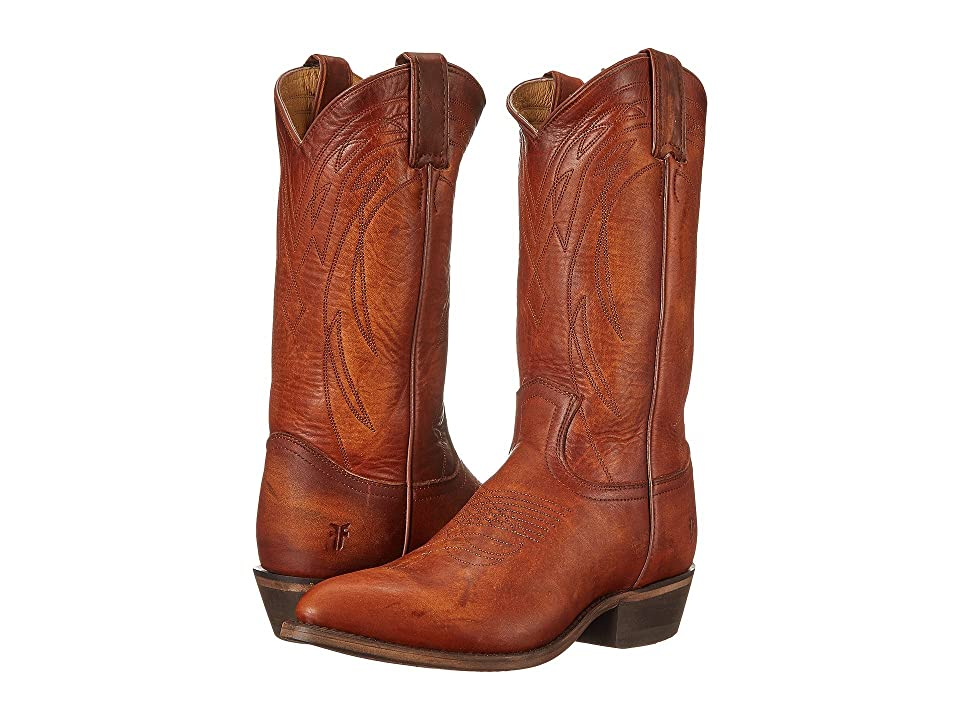 Frye Billy Pull On (Cognac Washed Oiled Vintage) Cowboy Boots