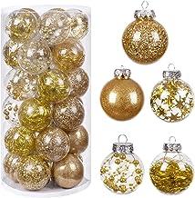 "HBlife Christmas Ball (Gold, 2.36"" 30PCS)"