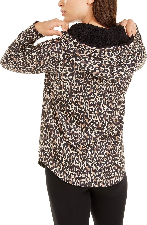 Ideology Women's Leopard Round-hem Hoodie Leopard Medium