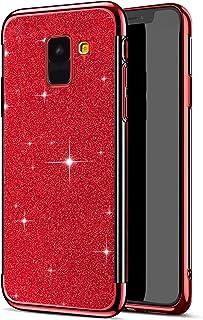 Herbests Kompatibel med Samsung Galaxy A8 2018 fodral glitter diamant silikonplätering plätering TPU-skyddsfodral mjukt sm...