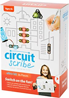 Circuit Scribe 32 Piece Ultimate Kit – Includes Magnetic Connection Cables, Super Conductive Silver Ink Pen, a Motor, and Everything You Need to Start Creating Your Own Circuits and Switches!
