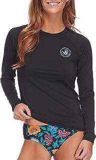 Women's Smoothies Sleek Solid Long Sleeve Rashguard with...