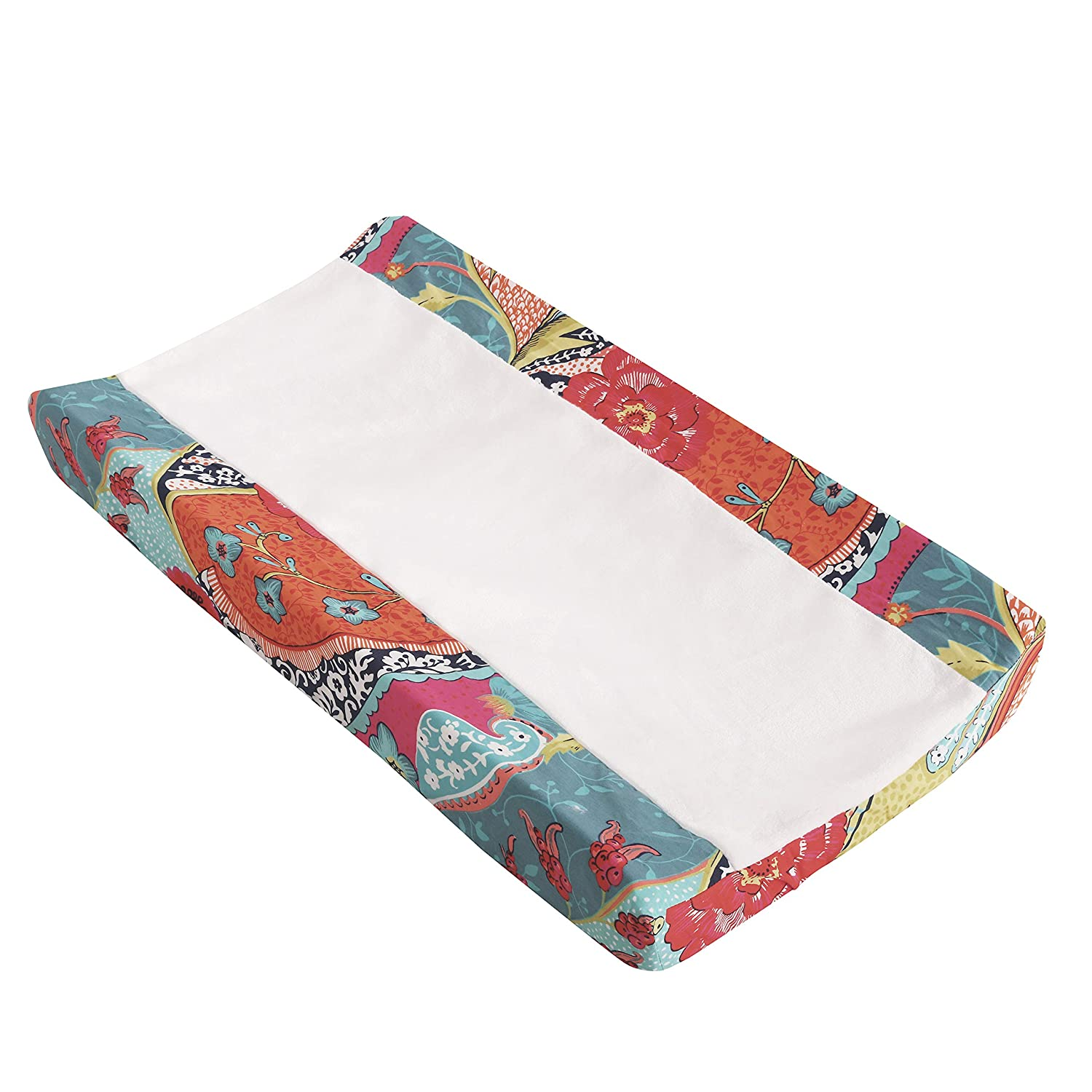Levtex Baby - Camille Changing Pad Cover - Tossed Owls and Trees Multicolor - Nursery Accessories - Fits Most Standard Changing Pads