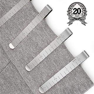 Chie no fukuro Couture Lot de 20 Pinces en Acier Inoxydable Ourlet Clips 7,6 cm Mesure Règle de matelassage pour Wonder Cl...