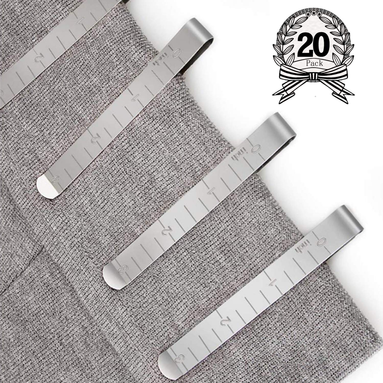 Juego de 20 clips de costura de acero inoxidable de 7,6 cm,regla ...