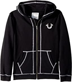 True Religion Kids - Shoestring Horseshoe Hoodie (Little Kids)