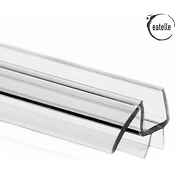 Eatelle Frameless Ultra Clear Shower Door Bottom Seal With Drip