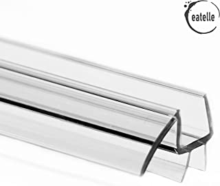 """eatelle Frameless Shower Door Bottom Seal with Drip Rail - 1/2""""(12mm) Thick, 36"""" Long Sweep - Glass Door Seal Strip Ultra Clear Durable Polycarbonate Stop Shower Leaks"""