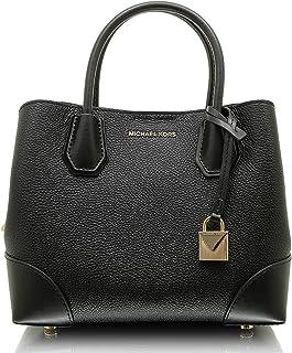 c0aac3ea59 Michael Kors Mercer Gallery Small Pebbled Leather Satchel Bag in Black