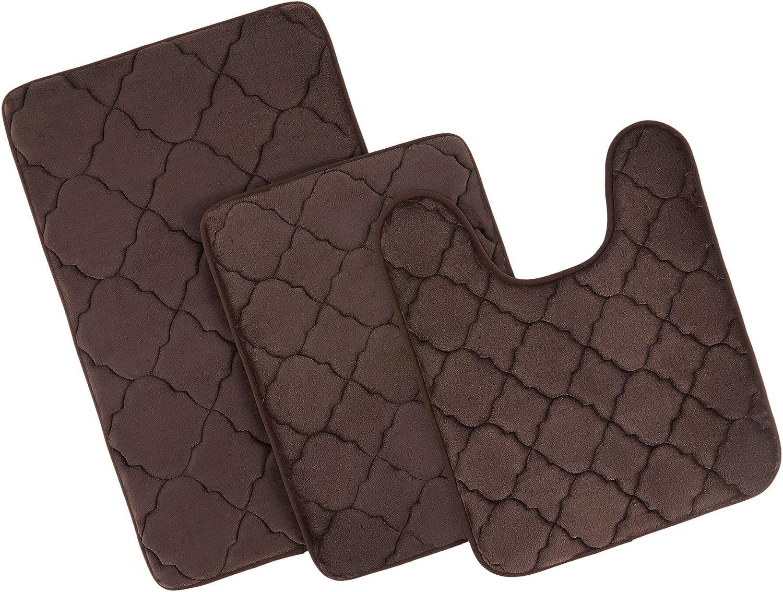 Max 67% OFF CO-Z 3pc Memory Foam Bathroom Rug Velvet Dry Ba Quick Plush Set 1 year warranty
