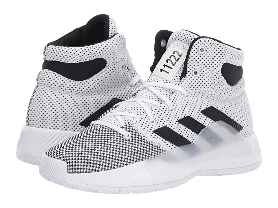 adidas Kids Pro Bounce Madness 2 (Big Kid) (Footwear White/Grey Heather/Core Black) Kids Shoes