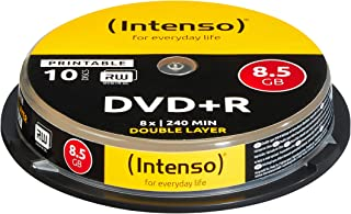 Intenso 4381142 DVD+R 8X Duel Layer Printable 10 Pack Cakebox