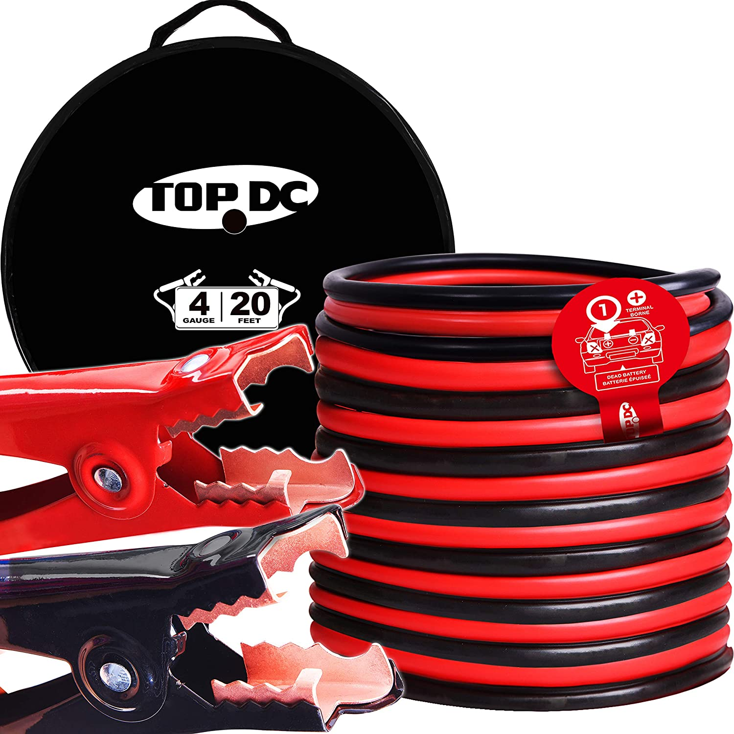 TOPDC Jumper Cables store 4 Gauge 20 -40℉ to Feet Heavy 167℉ Limited time cheap sale