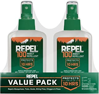 REPEL HG-24108 100 Insect Repellent with 4 oz Pump Spray, Twin Pack