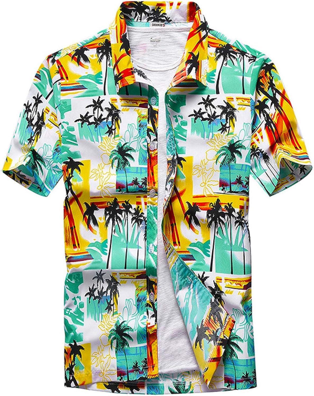 Corumly New products world's highest quality unisex popular Men's Short Sleeve Summer Shirt Beach Print