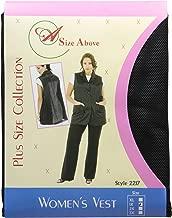A Size Above Plus Size Vented Mesh Back Salon Stylist Vest, Black, 1X