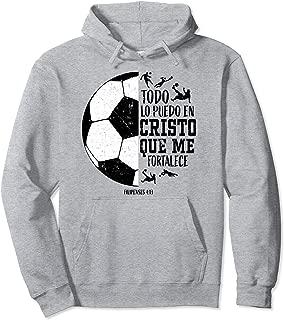 Spanish Christian Soccer Futbol Filipenses 4:13 Men Espanol Pullover Hoodie