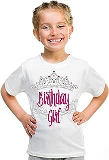 Birthday Girl Princess | Princess Party Tiara B-Day Top Girly Youth T-Shirt