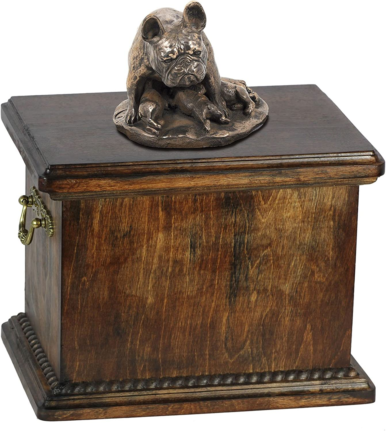 French Bulldog (mama), memorial, urn for dog's ashes, with dog statue, ArtDog