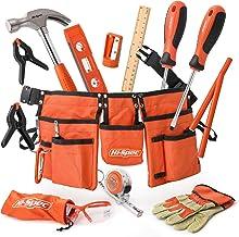 Hi-Spec 16-Delige Oranje Gereedschapsset voor Kinderen met Gereedschapsriem. Echt Metalen Handgereedschap voor Kinderen & ...