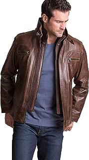 Memphis Lambskin Leather Bomber Moto Jacket
