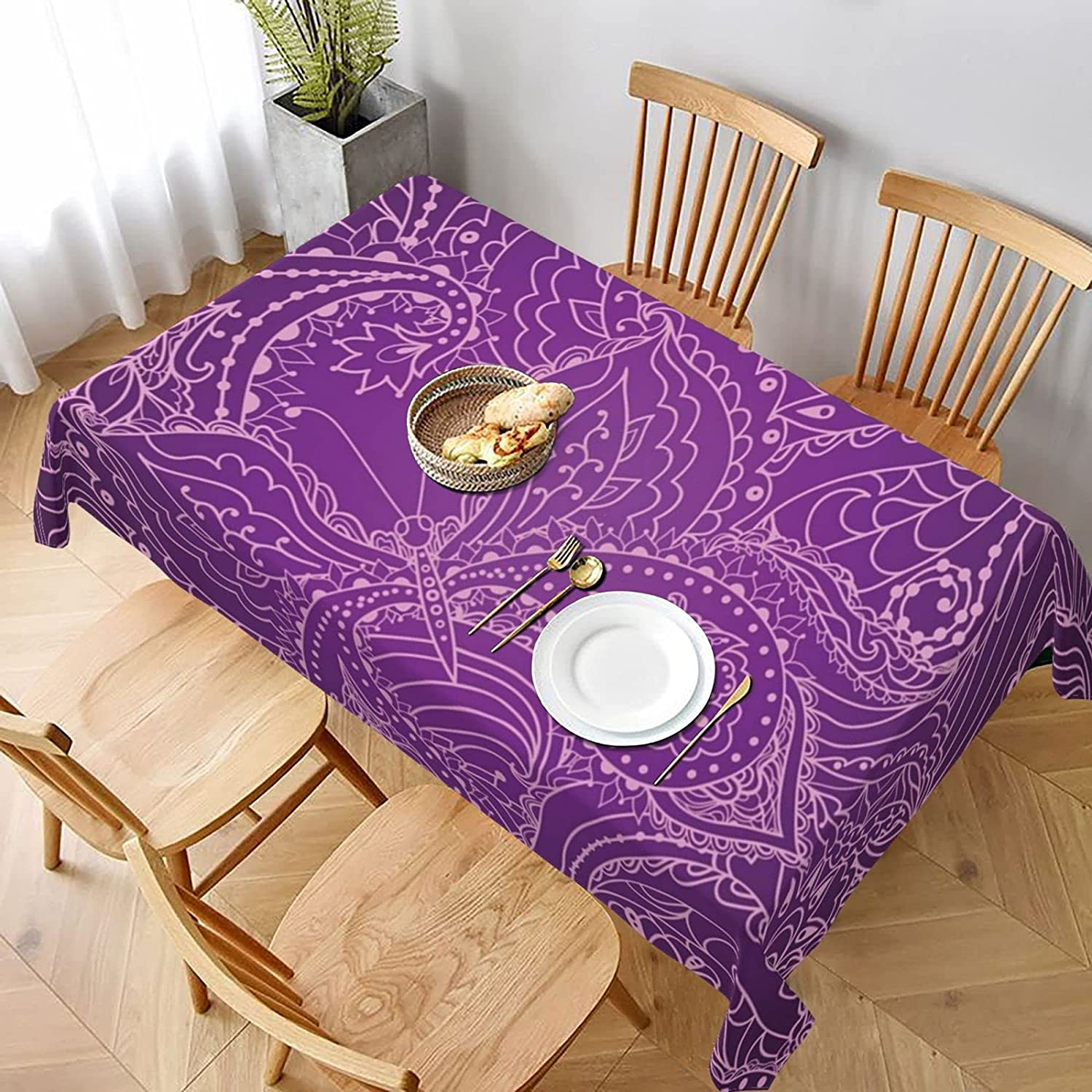 Floral Paisley Stain Resistant Spillproof Washable and Daily bargain sale Co Al sold out. Table