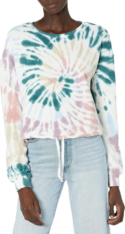 Popular product Lucky Brand Regular store Women's Long Sleeve Sweatsh Summer Crew Cropped Neck