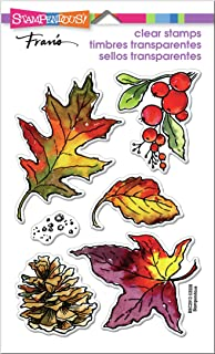 STAMPENDOUS Clear Stamps STAMPND AUT Leaves
