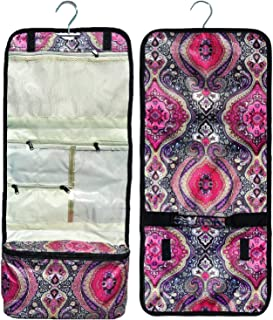 Best Large Pink Paisley Hanging Cosmetic Makeup Toiletry Travel Bag Case Kit Practical Great Stocking Stuffer Christmas Gift Idea for Women Teen Girl 2019