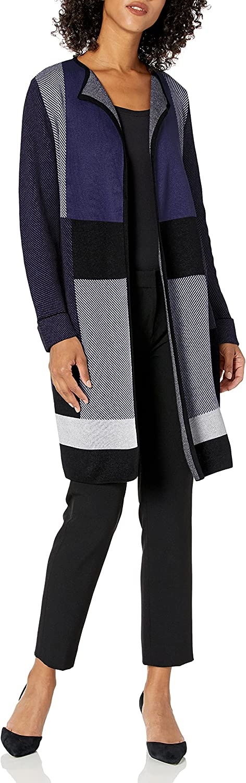 Kasper Women's Long Sleeve Roll Cuff Cardigan