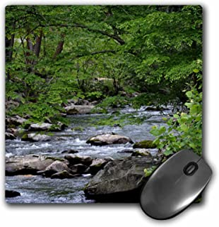 3dRose Mouse Pad Smokey Mountain Stream is A Photo of A Stream in The Smokies - 8 by 8-Inches (mp_192976_1)