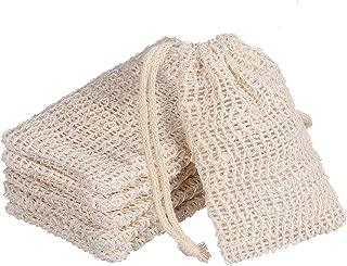 Senkary 6 Pack Soap Bag Natural Soap Pouch Soap Exfoliating Bag Soap Saver for Shower