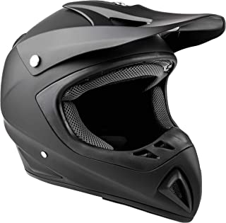 Typhoon Adult Dirt Bike Helmet ATV Off Road ORV Motocross Helmet DOT Motorcycle Flat/Matte Black (XXL)