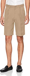 Haggar Men's Cool 18 Pro Classic Fit Stretch Solid Pleat...