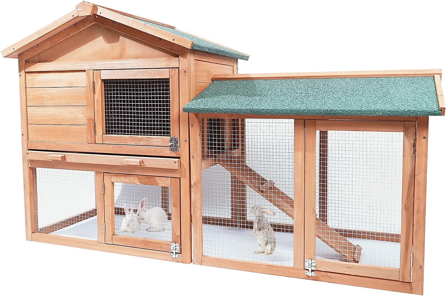 GIANTWOOD- Wooden Waterproof Rabbit 40% OFF Cheap Sale Ranking TOP13 Outdoor Cage Indoor Easy-C