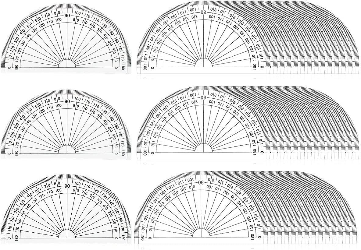 30 Pack Plastic Protractors Math Mini Degrees 180 4 I Max 41% OFF El Paso Mall Protractor