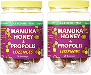 Y.S. Organic Bee Farms Manuka Honey and Propolis - 20 Lozenges (Pack of 2)
