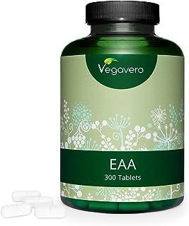Aminoácidos Esenciales EAA Vegavero® | Sin Aditivos Artificiales | 300 Comprimidos – No Polvo | Incluye BCAA + Histidina + Triptófano + Metionina | Aminoácidos Ramificados | Vegano