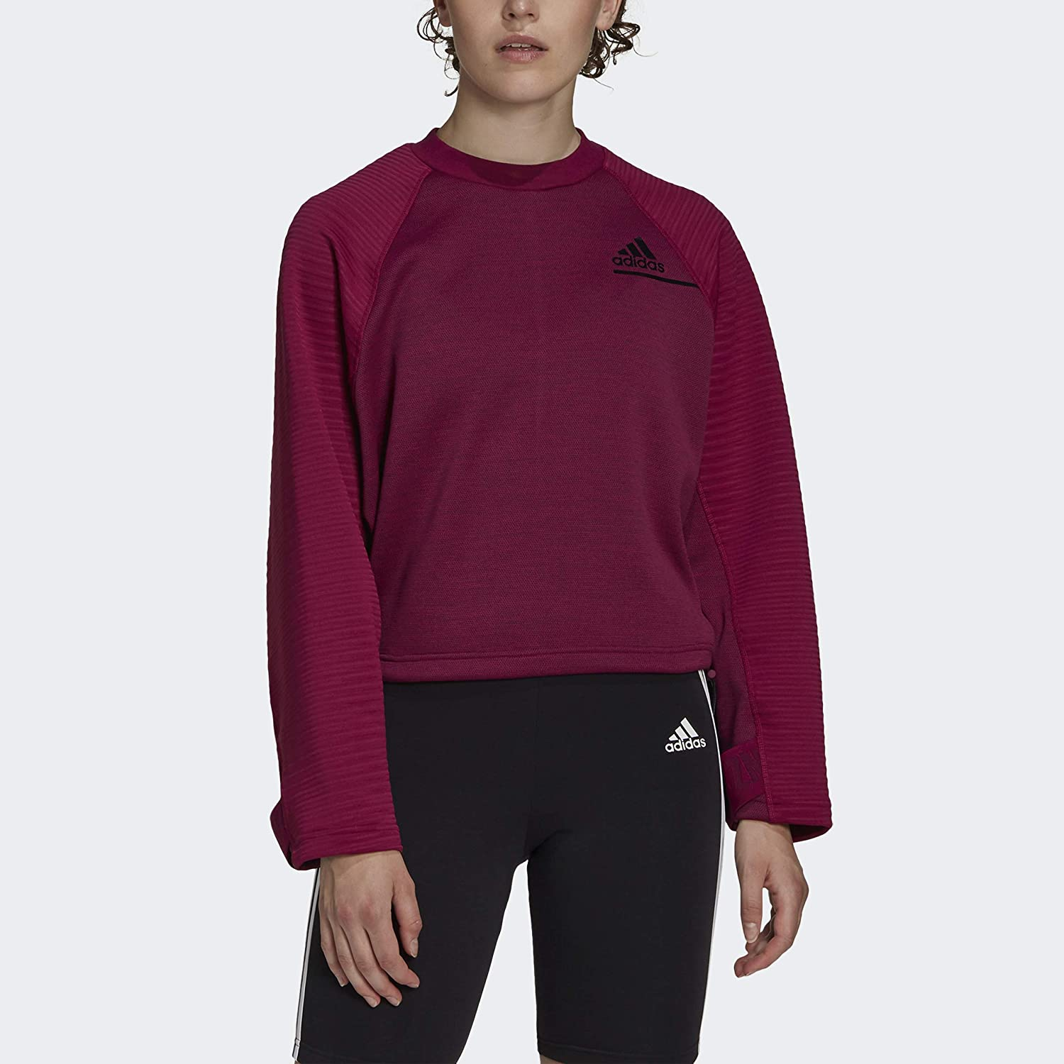 adidas Women's Z.n.e. Cold.rdy Be super welcome Miami Mall Athletics Crew Sweatshirt